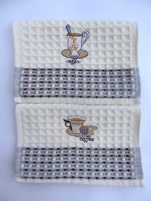 Полотенца кухонные, 2 шт A and C Collection. Цвет: бежевый, белый, коричневый