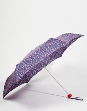 Cath Kidston Зонт с цветочным принтом Minilite 2 River. Цвет: синий