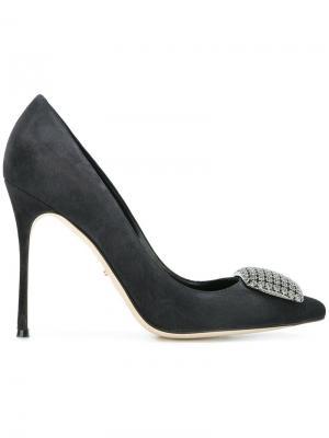 Декорированные туфли Sergio Rossi. Цвет: серый