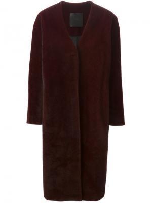 Пальто D.Efect. Цвет: красный