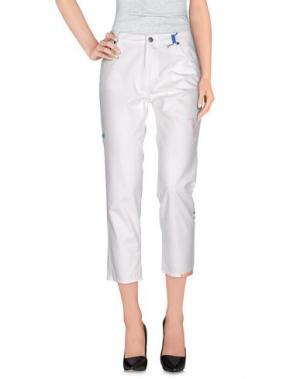 Повседневные брюки MIRA MIKATI. Цвет: белый