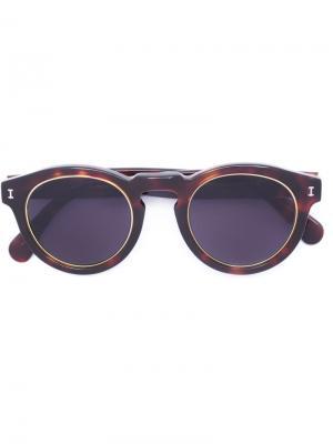 Солнцезащитные очки LR3 Illesteva. Цвет: коричневый