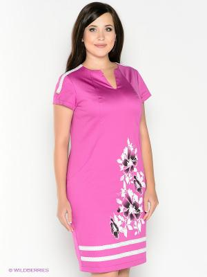 Платье Amelia Lux. Цвет: фуксия