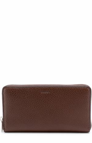 Кожаный бумажник на молнии с отделением для монет Bally. Цвет: коричневый