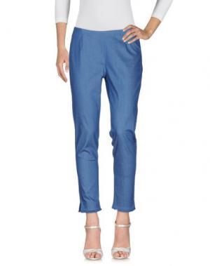 Джинсовые брюки GAZEL. Цвет: синий