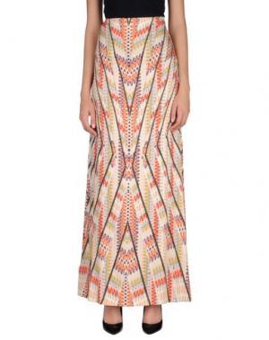 Длинная юбка PF PAOLA FRANI. Цвет: светло-желтый