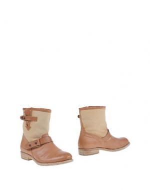Полусапоги и высокие ботинки PROGETTO. Цвет: песочный