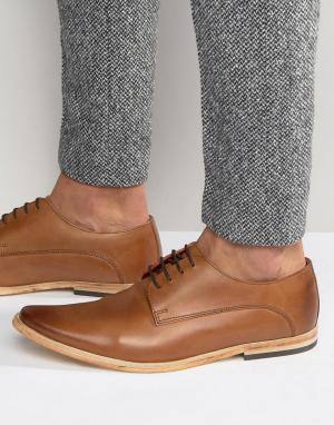 Base London Кожаные туфли дерби Cashe. Цвет: рыжий