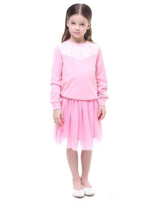 Свитшот Luce della Vita. Цвет: коралловый, розовый