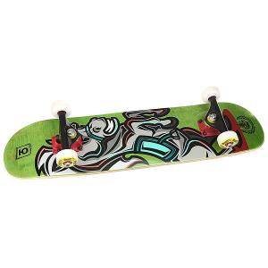 Скейтборд в сборе детский  Horse Green 28 x 7 (17.8 см) Юнион. Цвет: мультиколор,зеленый