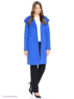 Пальто Electrastyle. Цвет: синий, голубой