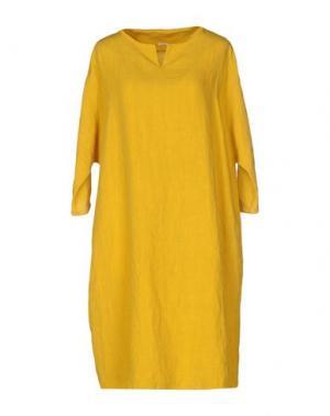 Короткое платье A.B APUNTOB. Цвет: желтый