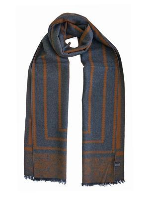 Мужской шарф LANYINGDI ША-24 30*180 100% шелк. Цвет: рыжий, серый