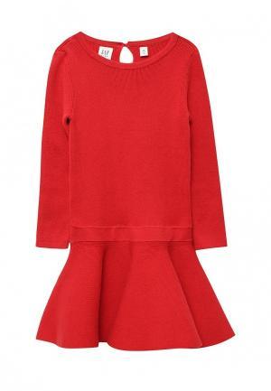 Платье Gap. Цвет: красный