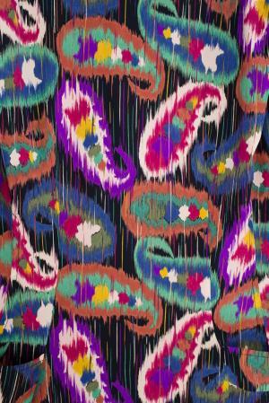 Шелковое платье (80-е) Emanuel Ungaro Vintage. Цвет: пурпурный