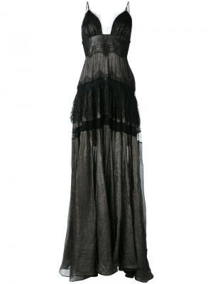 Clara gown Maria Lucia Hohan. Цвет: чёрный