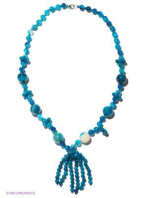 Колье Migura. Цвет: синий, серо-голубой
