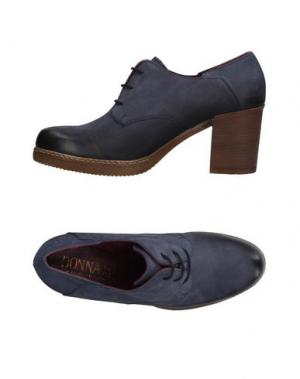 Обувь на шнурках DONNA PIÙ. Цвет: темно-синий
