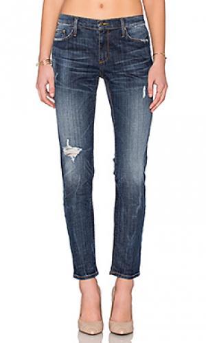 Облегающие джинсы в стиле бойфренд harper Black Orchid. Цвет: none