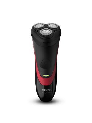 Бритва Philips S1310/04. Цвет: черный, красный