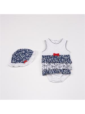 Комплекты нательные для малышей BABALUNO. Цвет: белый,синий