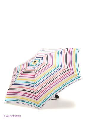 Зонт Isotoner. Цвет: белый, синий, зеленый, розовый