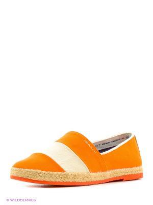 Слипоны GANT. Цвет: оранжевый