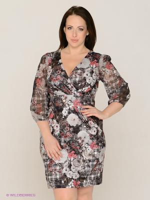Платье MAFUERTA. Цвет: черный, серый, светло-серый, розовый, белый