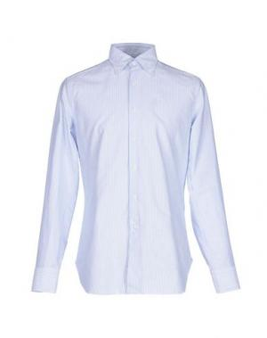 Pубашка ALESSANDRO GHERARDI. Цвет: лазурный