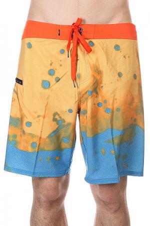Шорты пляжные  Smokin Resin Blue Lost. Цвет: голубой,оранжевый