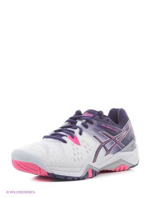 Спортивная обувь GEL-RESOLUTION 6 ASICS. Цвет: белый, розовый, фиолетовый