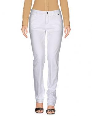 Повседневные брюки HEAVY PROJECT. Цвет: белый