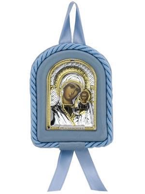 Икона Казанская Божья Матерь NAVELL. Цвет: коричневый, серебристый