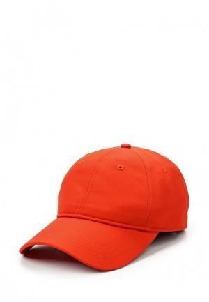 Бейсболка Lacoste. Цвет: красный