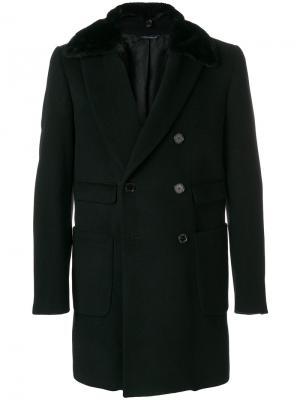Двубортное пальто Daniele Alessandrini. Цвет: чёрный
