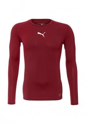 Лонгслив спортивный Puma. Цвет: бордовый