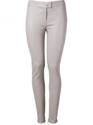 Leather skinny trousers Martha Medeiros. Цвет: серый