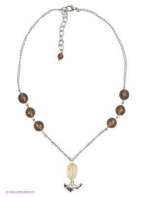 Ожерелье Polina Selezneva. Цвет: коричневый, прозрачный