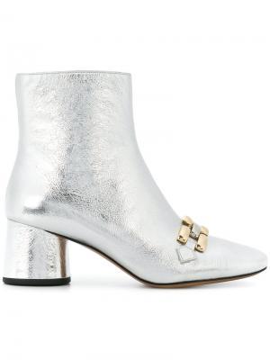 Ботильоны Remi Chain Link Marc Jacobs. Цвет: серый