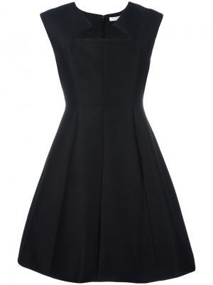 Расклешенное платье с фигурным вырезом Halston Heritage. Цвет: чёрный