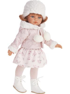 Кукла Эльвира зимний образ, рыжая, 33см Antonio Juan. Цвет: бледно-розовый