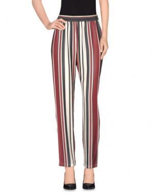 Повседневные брюки GOTHA. Цвет: красно-коричневый