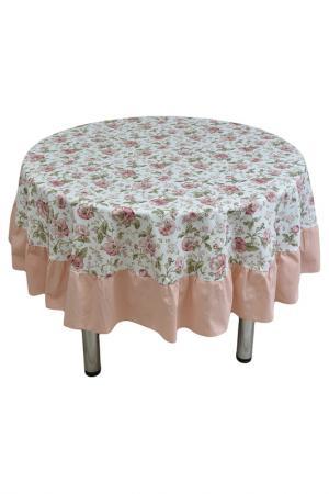 Скатерть 185 см FRESCA DESIGN. Цвет: розовый