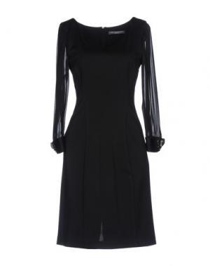 Короткое платье CARLA MONTANARINI. Цвет: черный
