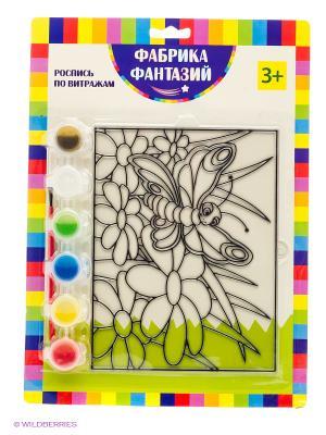 Н-р для росписи витража Бабочка Фабрика Фантазий. Цвет: зеленый