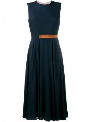 Плиссированное платье А-образного силуэта Roksanda. Цвет: синий