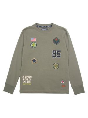 Лонгслив Aspen Polo Club. Цвет: хаки