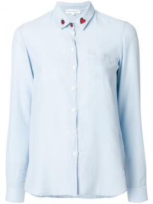 Рубашка с божьей коровкой на воротнике Chinti & Parker. Цвет: синий