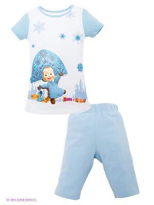 Пижама Lowry. Цвет: голубой, белый