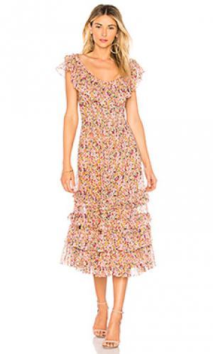 Платье margo Rebecca Taylor. Цвет: розовый